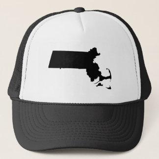 Massachusetts in Black Trucker Hat