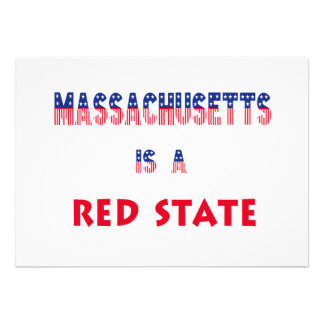 Massachusetts is a Red State Custom Invites
