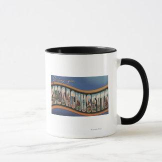 Massachusetts - Large Letter Scenes Mug