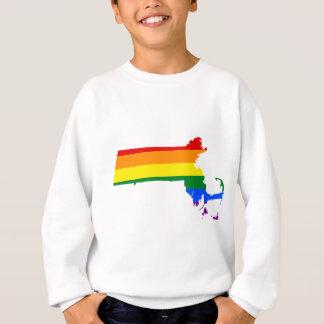 Massachusetts LGBT Flag Map Sweatshirt