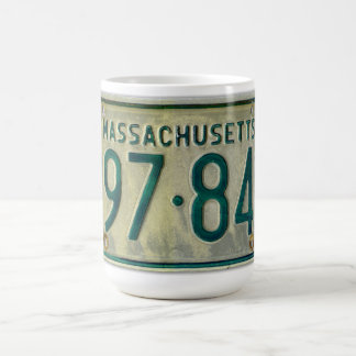 Massachusetts License Plate Mug