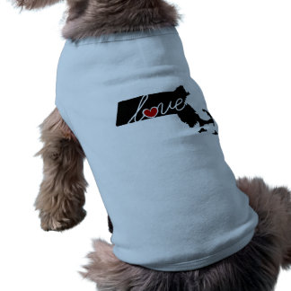 Massachusetts Love!  Gifts for MA Lovers Sleeveless Dog Shirt