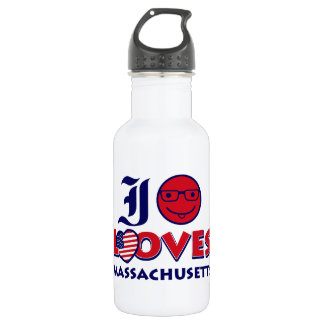 Massachusetts lovers design 532 ml water bottle