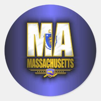 Massachusetts (MA) Round Sticker