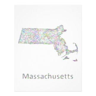 Massachusetts map 21.5 cm x 28 cm flyer