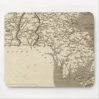 Massachusetts Map by Arrowsmith Mouse Mat