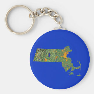 Massachusetts Map Keychain