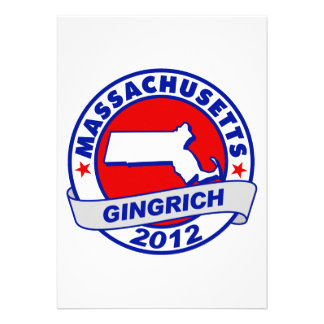 Massachusetts Newt Gingrich Personalized Invite