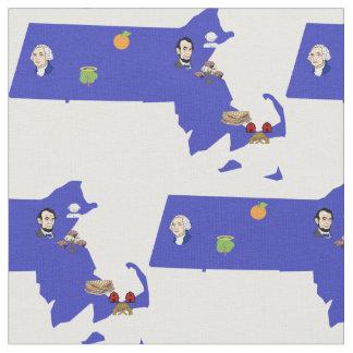Massachusetts Pun Map Fabric