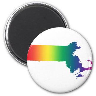 Massachusetts Rainbow Gay Pride Equality Magnet