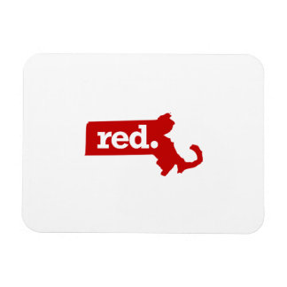MASSACHUSETTS RED STATE RECTANGULAR PHOTO MAGNET