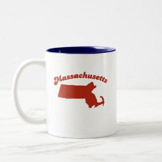 MASSACHUSETTS Red State Two-Tone Mug
