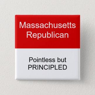Massachusetts Republican 15 Cm Square Badge
