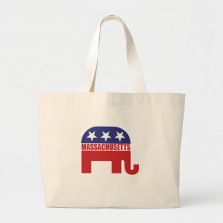 Massachusetts Republican Elephant Canvas Bag