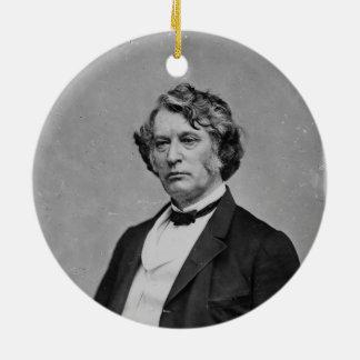 Massachusetts Republican Senator Charles Sumner Round Ceramic Decoration