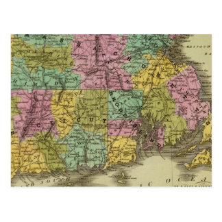 Massachusetts Rhode Island And Connecticut 2 Postcard