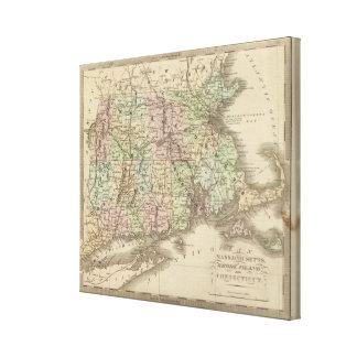 Massachusetts, Rhode Island, and Connecticut Canvas Print
