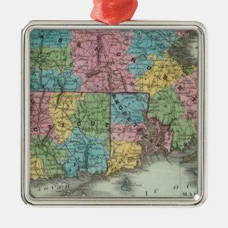 Massachusetts Rhode Island And Connecticut Christmas Ornament