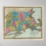 Massachusetts Rhode Island And Connecticut Print