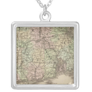 Massachusetts, Rhode Island, and Connecticut Silver Plated Necklace