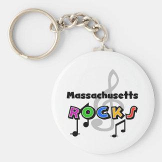 Massachusetts Rocks Key Ring