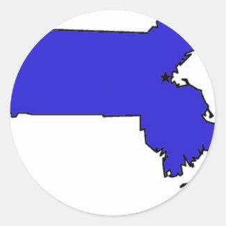Massachusetts Round Sticker