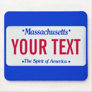 Massachusetts spirit of america license plate mouse mat