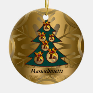 Massachusetts State Christmas Ornament