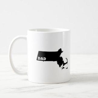 Massachusetts State Dad T-shirt Coffee Mug