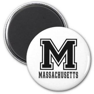 Massachusetts State Designs Fridge Magnets
