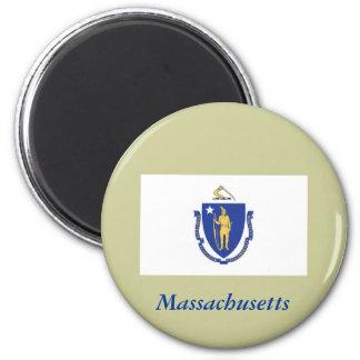 Massachusetts State Flag Refrigerator Magnet