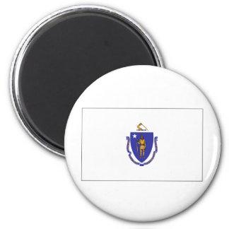 Massachusetts State Flag Fridge Magnet