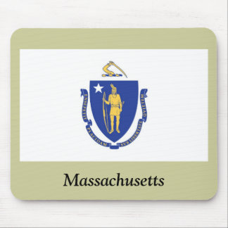 Massachusetts State Flag Mouse Mat