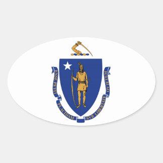 Massachusetts State Flag Oval Sticker