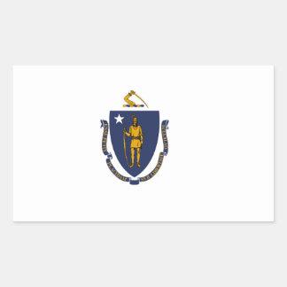 Massachusetts State flag Rectangular Sticker