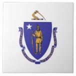 Massachusetts State Flag Tile