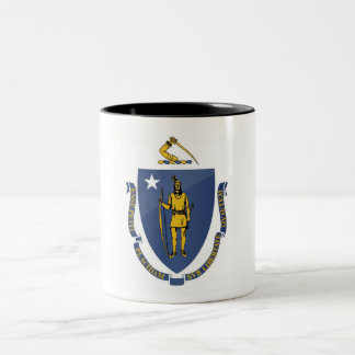 Massachusetts State Flag Two-Tone Coffee Mug