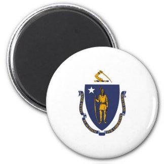Massachusetts state flag usa united america symbol 6 cm round magnet