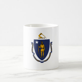 Massachusetts state flag usa united america symbol coffee mug