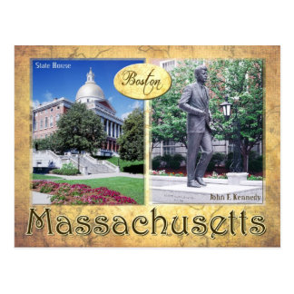 Massachusetts State House Kennedy s Statue Post Card