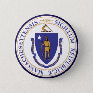 Massachusetts State Seal 6 Cm Round Badge
