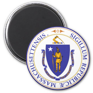Massachusetts State Seal 6 Cm Round Magnet