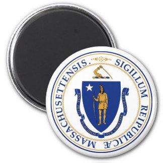 Massachusetts state seal america republic symbol f 6 cm round magnet