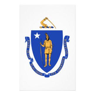 Massachusetts State Seal Personalized Stationery