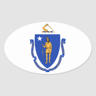 Massachusetts State Seal Oval Stickers