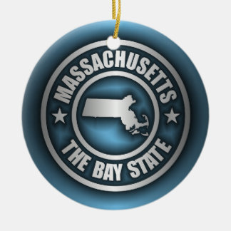 """Massachusetts Steel 2"" Christmas Ornament"
