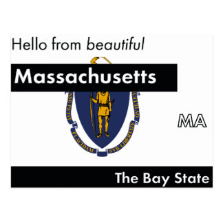 Massachusetts The Bay State Postcard