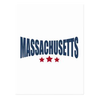 Massachusetts Three Stars Design Postcards