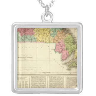 Massachusetts US Silver Plated Necklace