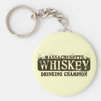 Massachusetts Whiskey Drinking Champion Key Ring